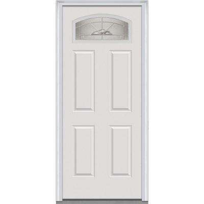 white front doors4 Panel  OffWhite  Front Doors  Exterior Doors  The Home Depot