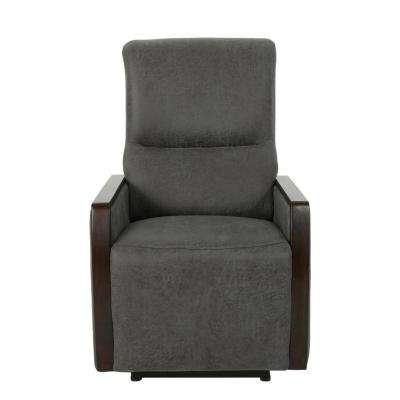 Pedrin Traditional Tufted Back Slate Microfiber Power Recliner