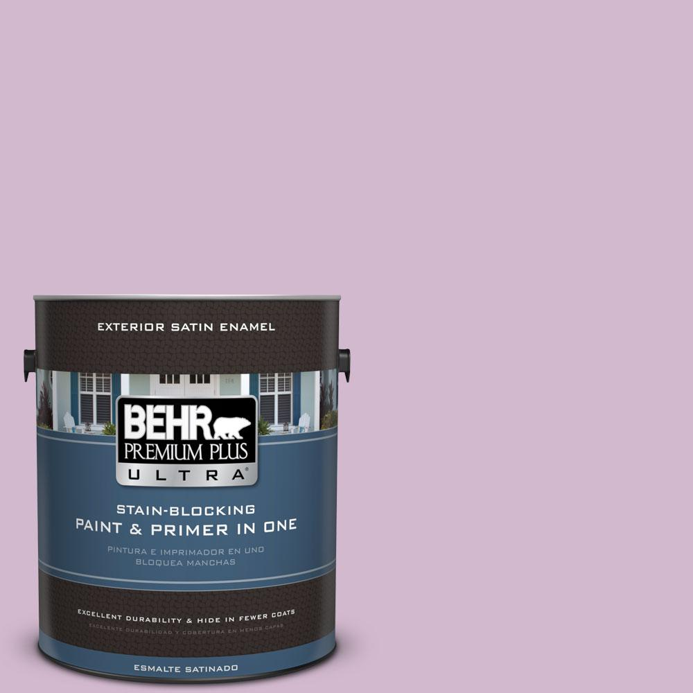 BEHR Premium Plus Ultra 1-gal. #M110-3 Bedazzled Satin Enamel Exterior Paint