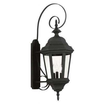 Estate 3-Light Black Outdoor Large Wall Lantern