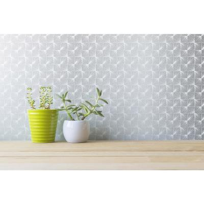 Stockholm Silver Geometric Peelable Roll (Covers 56.4 sq. ft.)