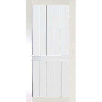 36 in. x 83.5 in. Kimberly Bay 2-Panel White Solid Core Pine Interior Barn Door Slab