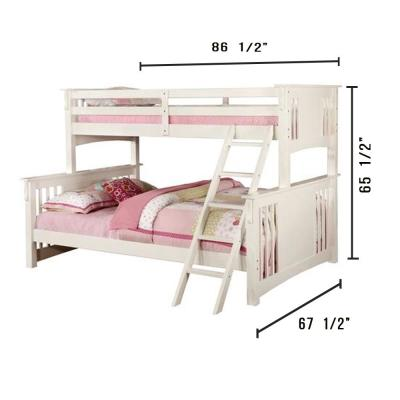 Spring Creek in White Twin XI and Queen Bunk Bed