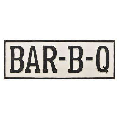 White Metal Novelty Sign-Bar-B-Q