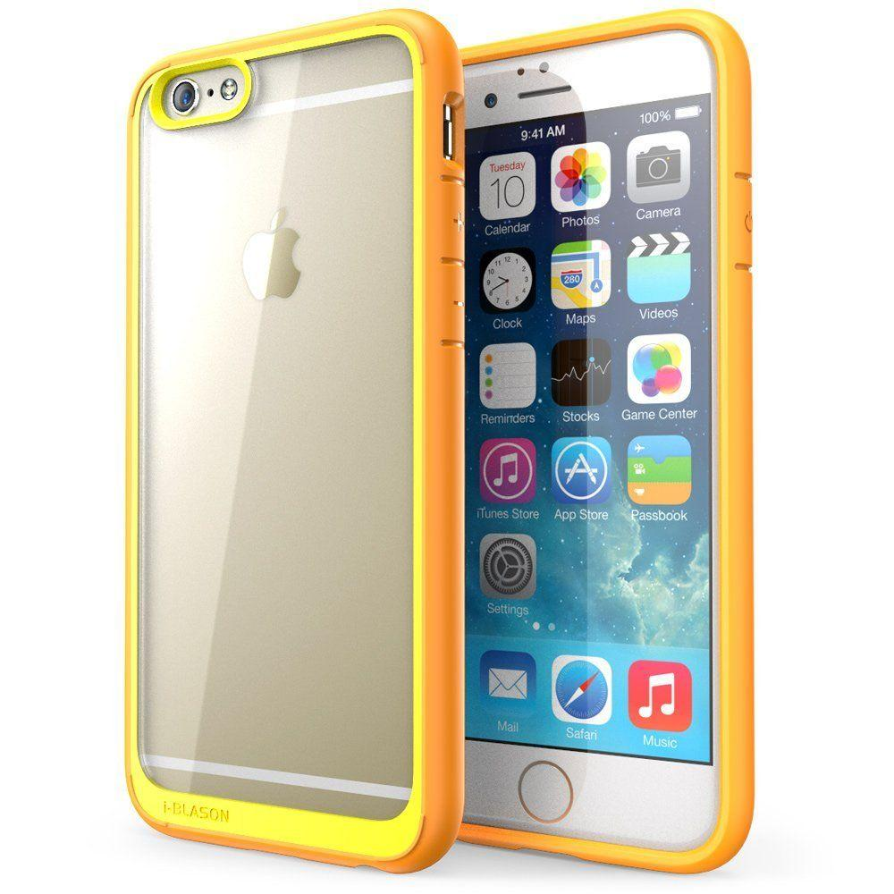 i blason halo series 4 7 in case for apple iphone 6 6s, clearcase for apple iphone 6 6s, clear orange