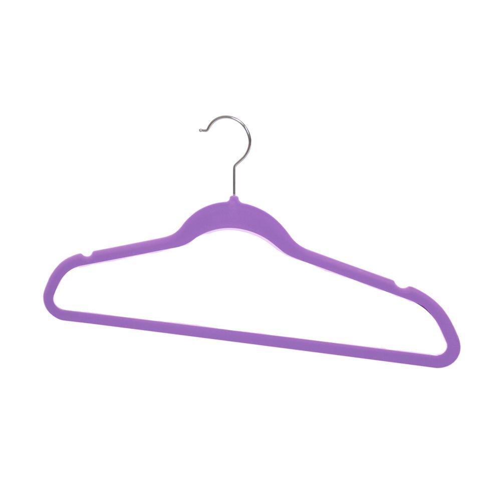 Purple Velvet Hanger (10-Pack)