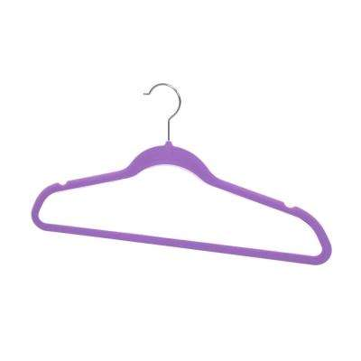 Purple Velvet Hanger (10-Pack)