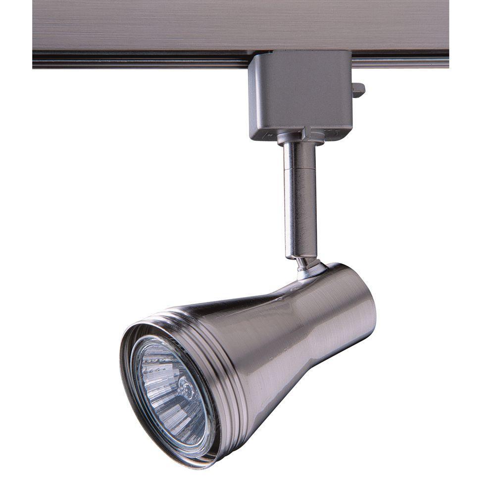 Series 6 Line-Voltage GU-10 Satin Nickel Track Lighting Fixture