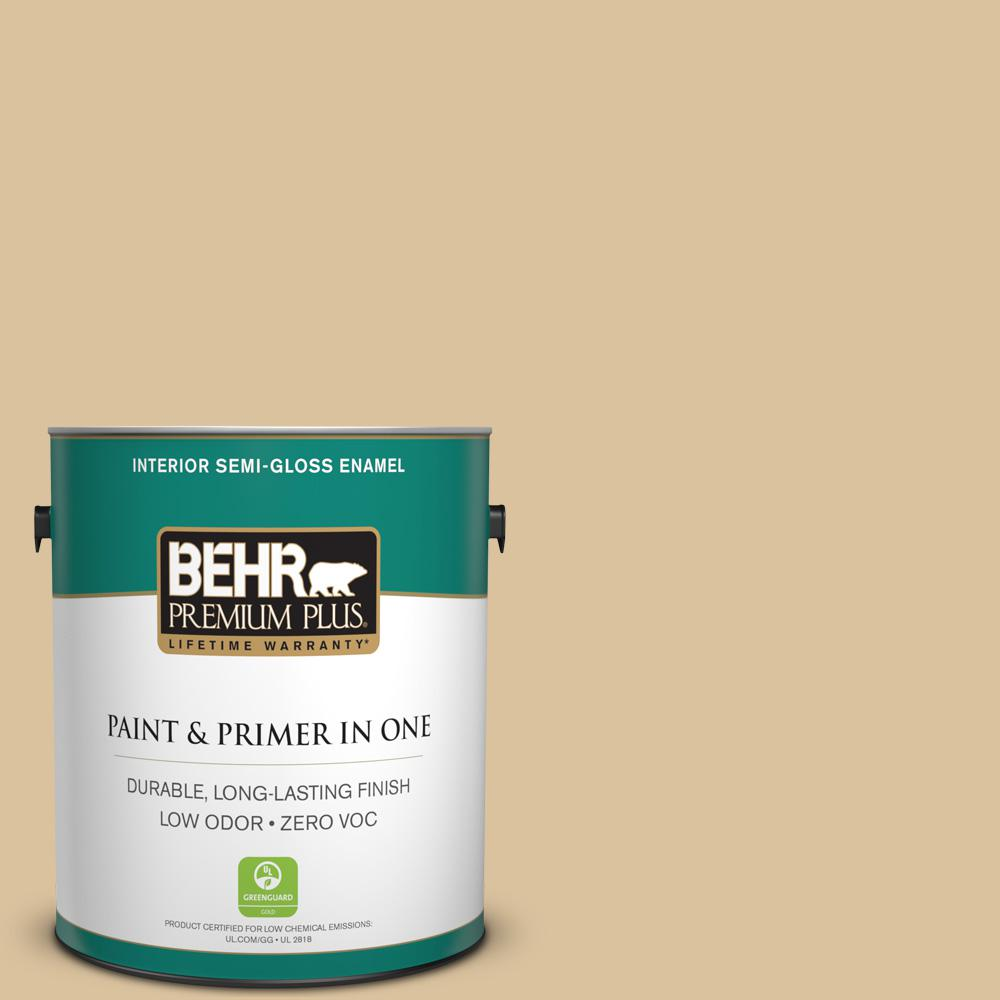 1-gal. #S310-3 Natural Twine Semi-Gloss Enamel Interior Paint