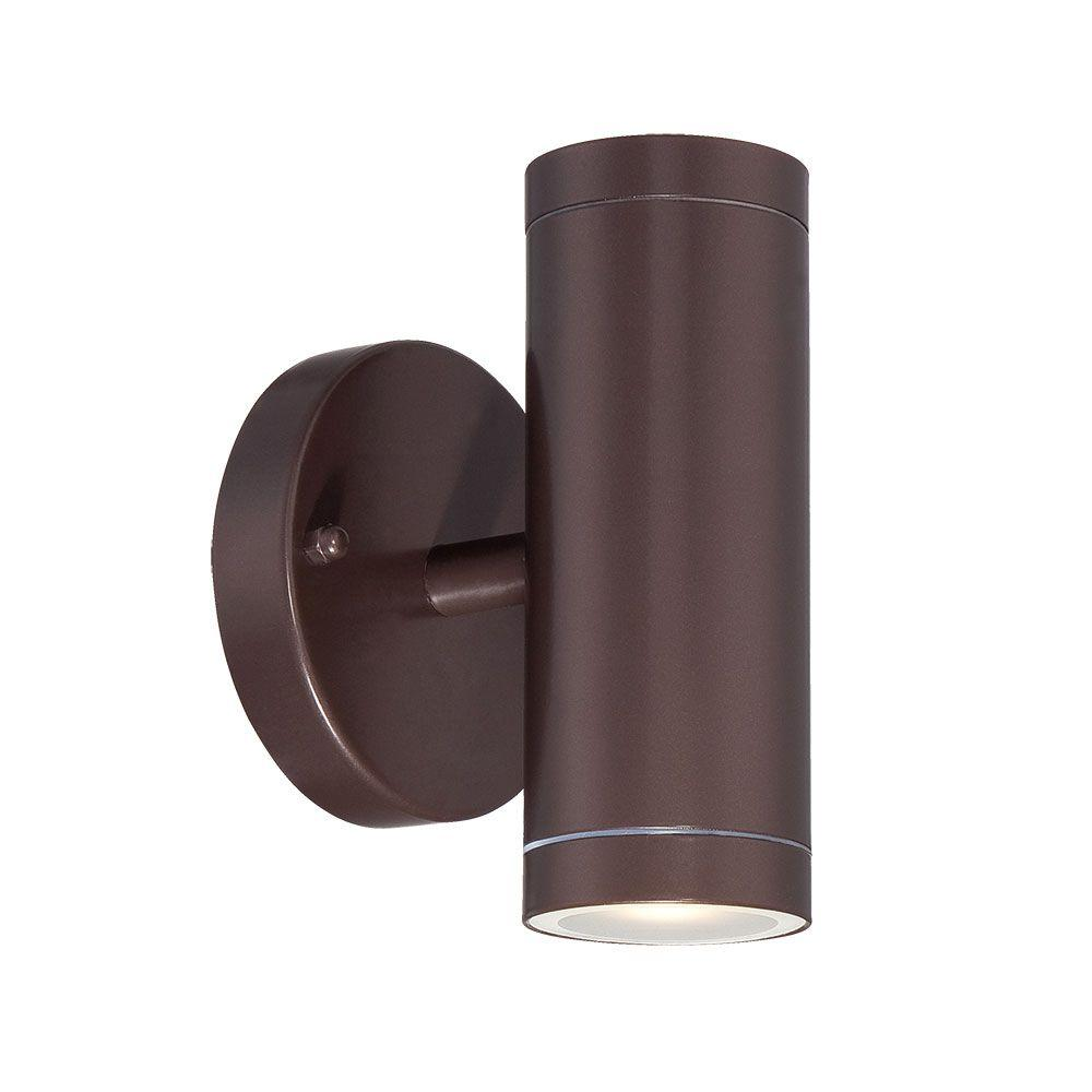 2 Light Architectural Bronze Integrated Led Wall Sconce