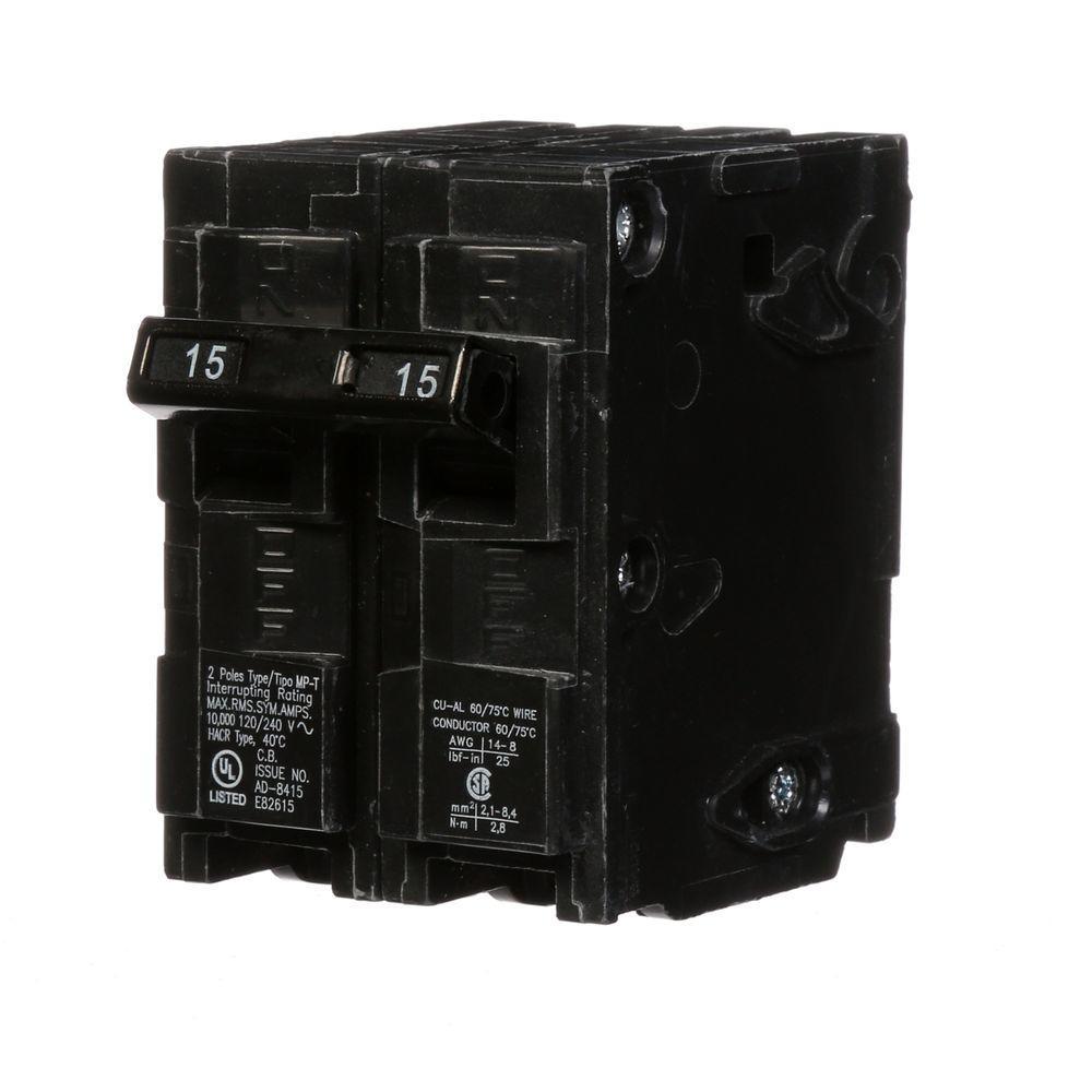 15 Amp Double-Pole Type MP Circuit Breaker