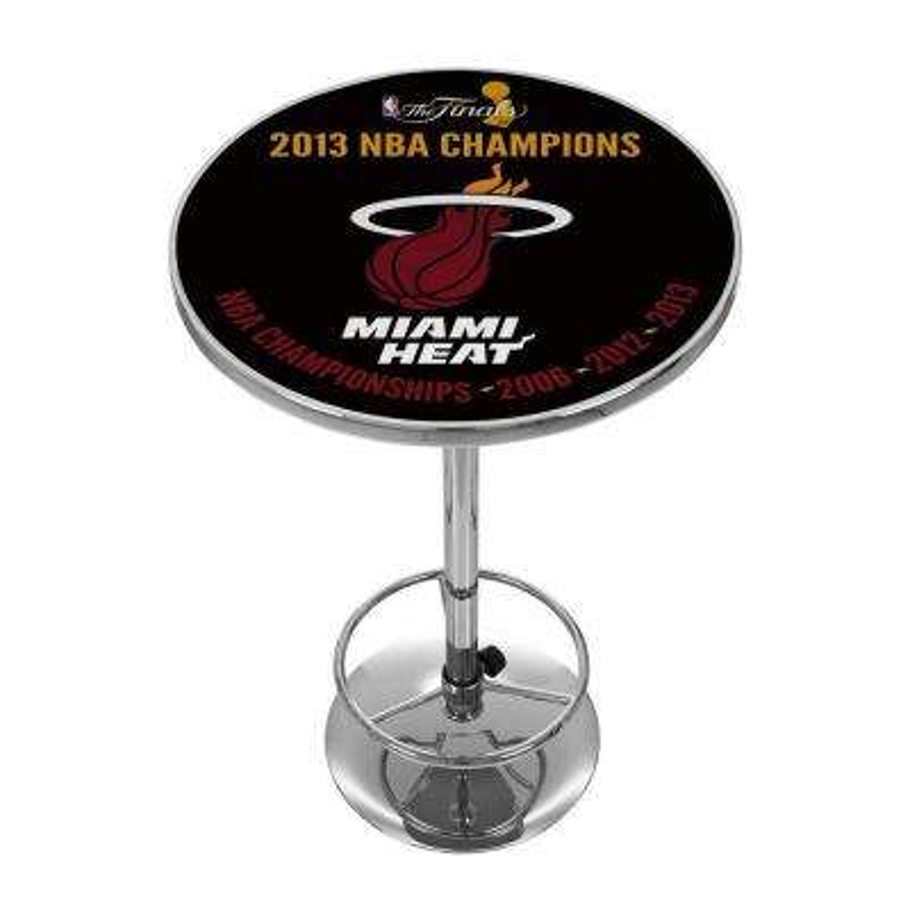 Miami Heat 2013 NBA Champions Chrome Pub/Bar Table