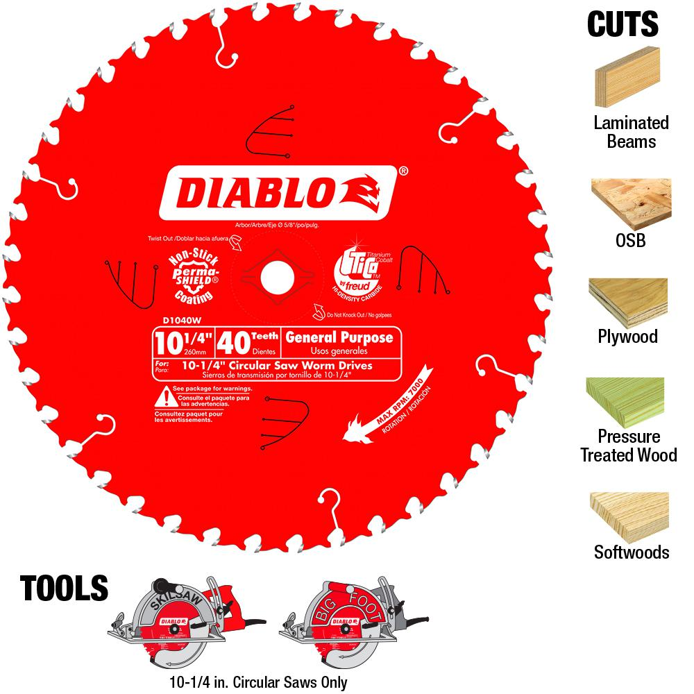 Diablo 10-1/4 in. x 40-Tooth General Purpose Saw Blade