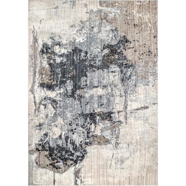 Rivera Abstract Gray 8 ft. x 10 ft. Area Rug