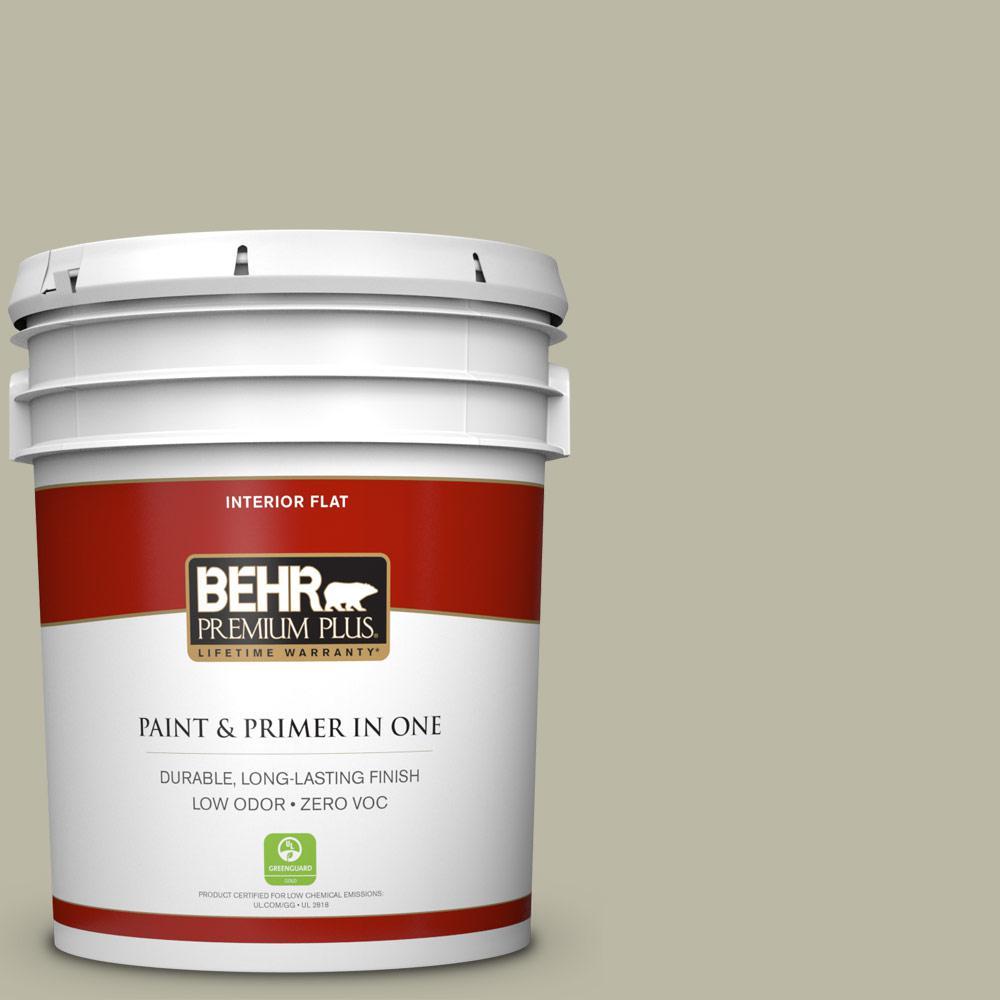 BEHR Premium Plus 5-gal. #400F-4 Restful Zero VOC Flat Interior Paint