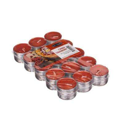 Candy Cranberry Tealight Candles (Set of 60)