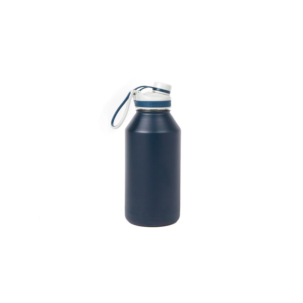 Manna Ranger Pro 64 oz. Navy Double Wall Stainless Steel Bottle