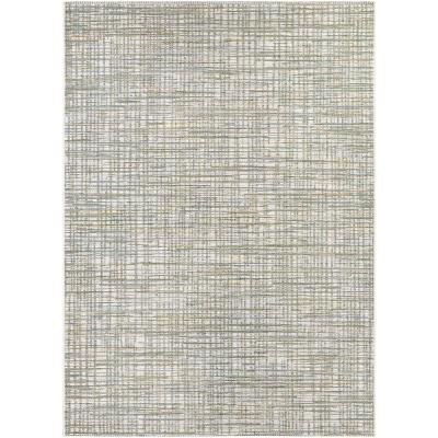 Cape Falmouth Ivory-Hunter 7 ft. x 10 ft. Indoor/Outdoor Area Rug
