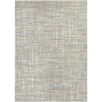 Cape Falmouth Ivory-Hunter 8 ft. x 11 ft. Indoor/Outdoor Area Rug