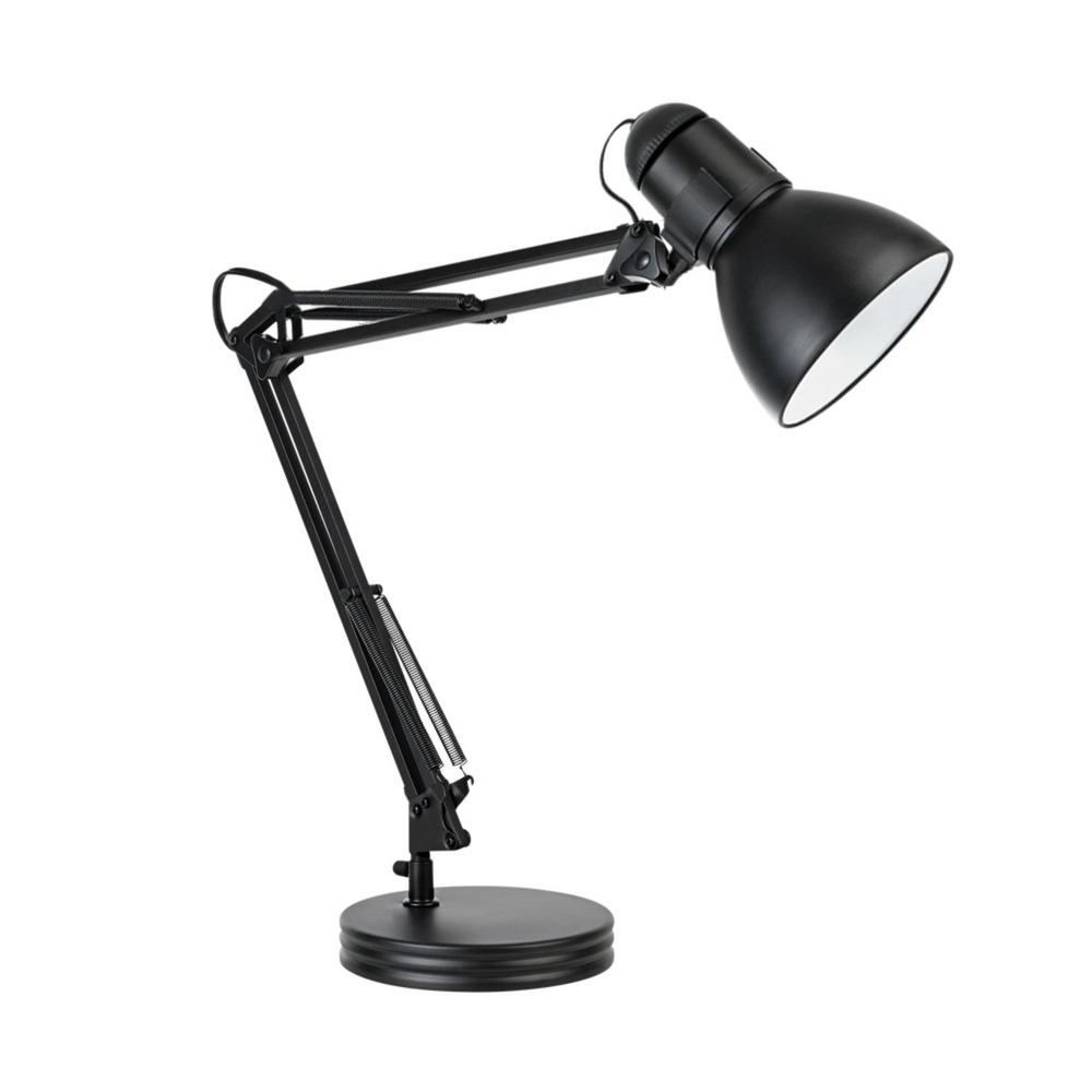 Globe Electric 35 in. Heavy Base Architect Black Swing Arm Desk Lamp