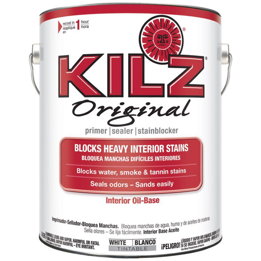 KILZ Original 1 gal. White Oil-Based Interior Primer, Sealer, and Stain Blocker