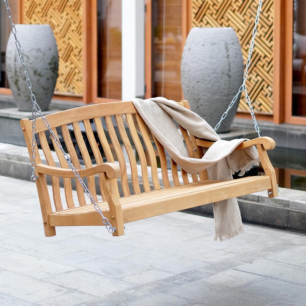 Cambridge Casual Colton Teak Wood Porch Swing