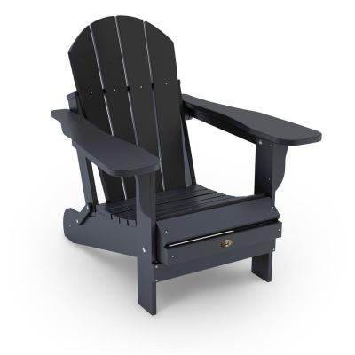 Recycled Black Folding Plastic Adirondack Chair
