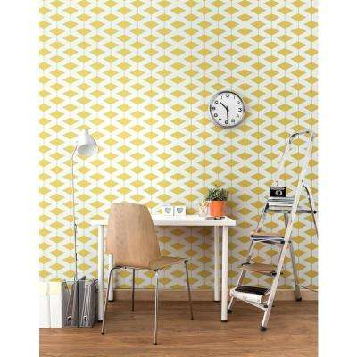 Art in Chaos Collection Abacus in Dusty Yellow Removable and Repositionable Wallpaper