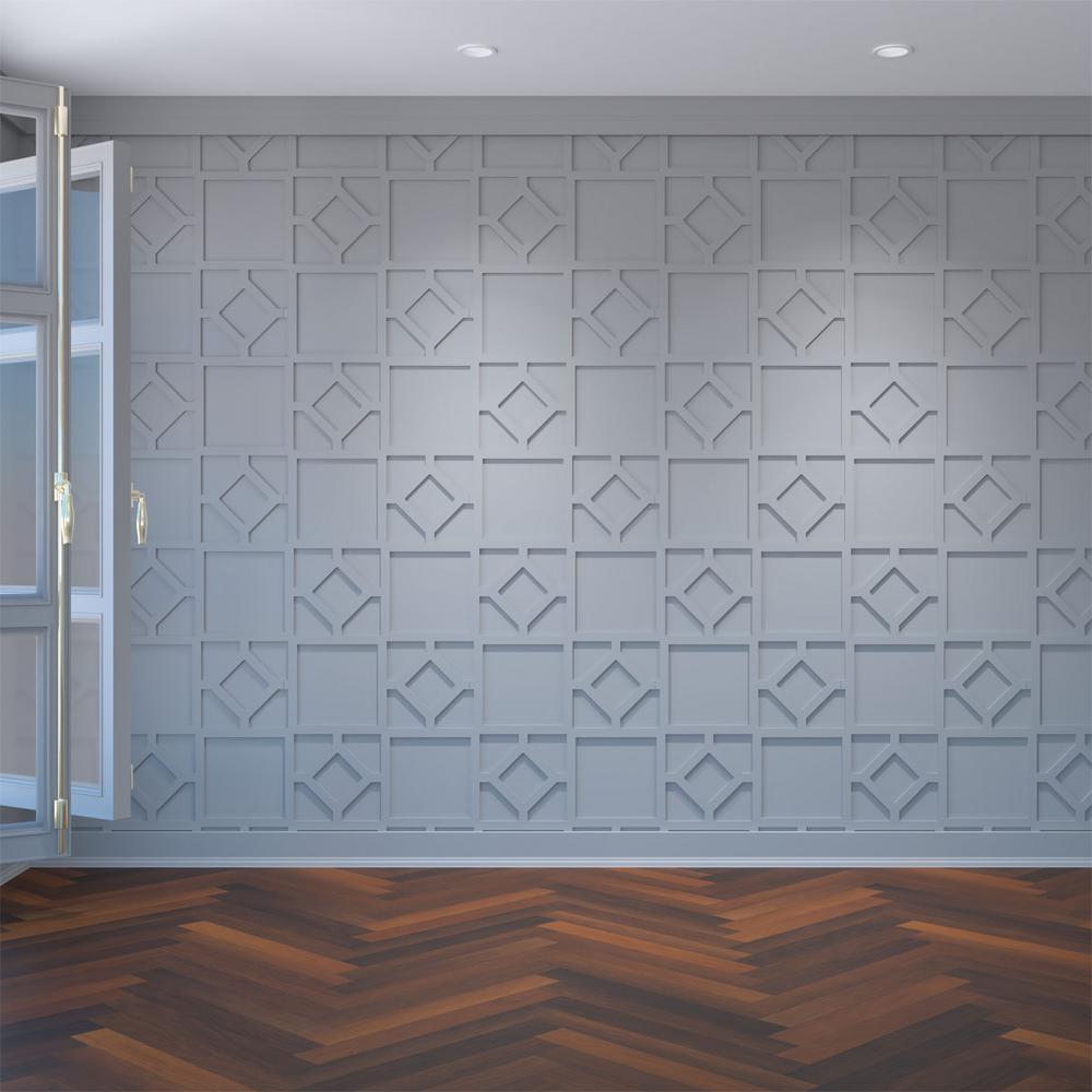 3/8 in. x 26-7/8 in. x 15-3/8 in. Medium Arcadia White Architectural Grade PVC Decorative Wall Panels