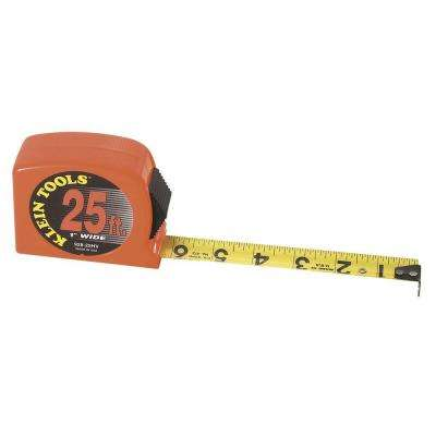 25 ft. Tape Measure with High Visibility Case