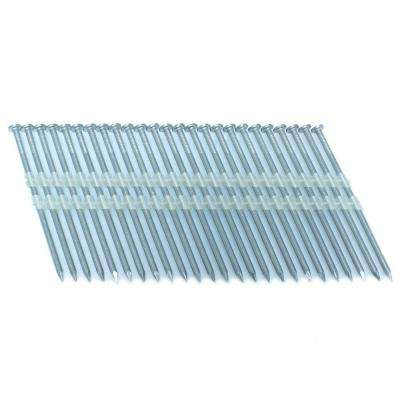 3.25 in. x 0.121 in. 20-Degree Smooth Stainless Full Round Head Plastic Strip Nails 3000 per Box