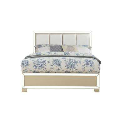 Voeville II PU and Champagne Queen Bed