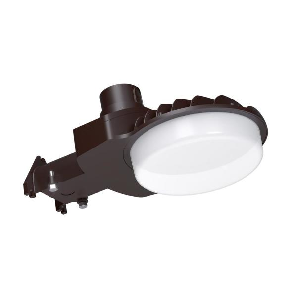 550-Watt Equivalent Bronze Integrated Outdoor LED Area Light, 8500 Lumens, Dusk to Dawn Outdoor Security Light