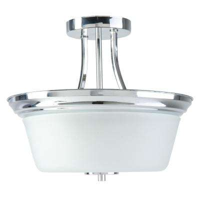 Markam 2-Lights Chrome Semi-Flushmount Light
