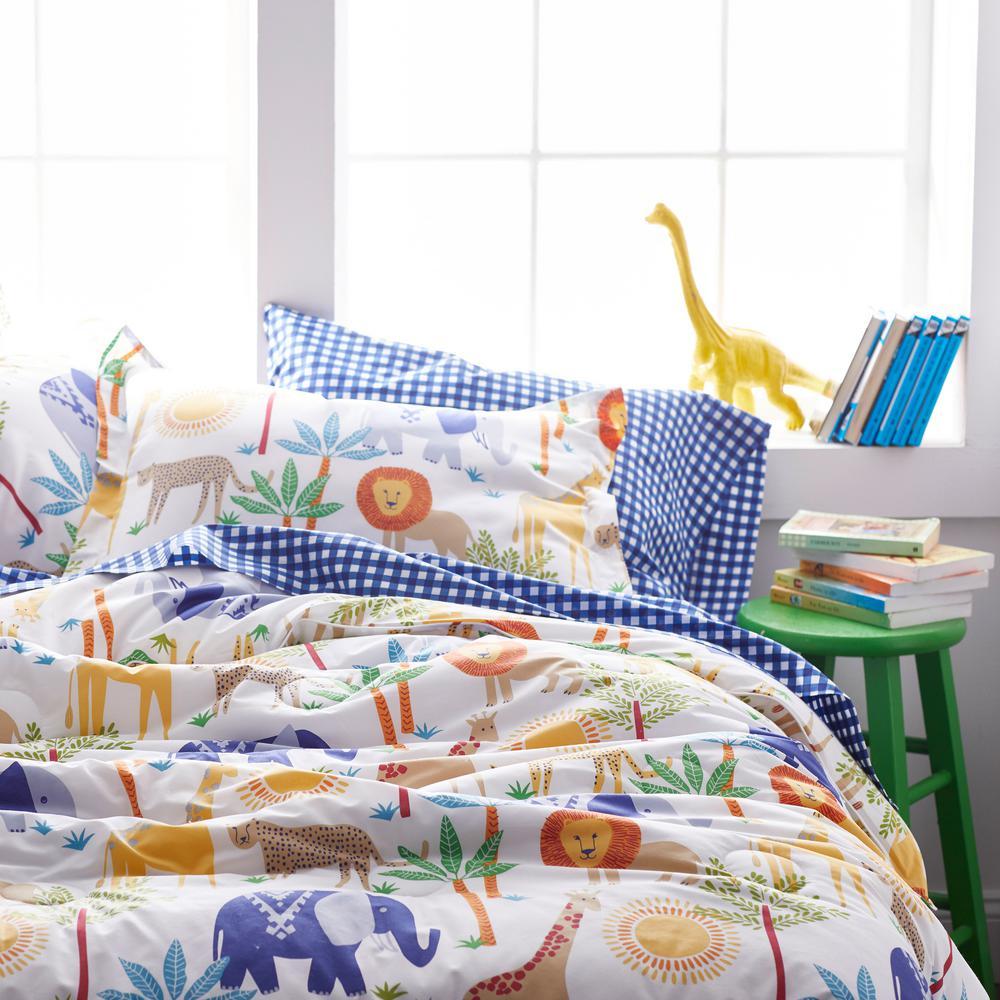 Jungle Animals Organic Cotton Percale Comforter