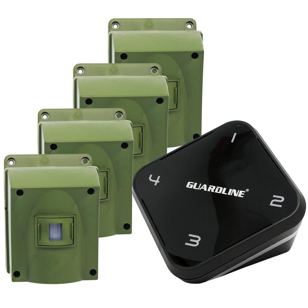 guardline 1 4 mile long range wireless driveway alarm with 4 sensorguardline 1 4 mile long range wireless driveway alarm with 4 sensor kit