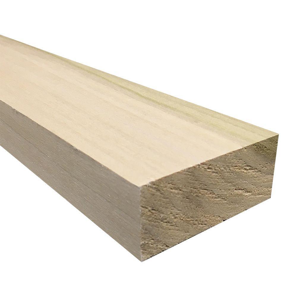2 in. x 4 in. x Random Length S4S Poplar Board