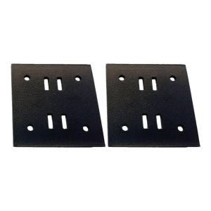 OWT Ornamental Wood Ties 5 in. Black Galvanized Butt Joint Wood to Wood Connector Plate (2-Pack)-56613 - The Home Depot  sc 1 st  Home Depot & OWT Ornamental Wood Ties 5 in. Black Galvanized Butt Joint Wood to ...