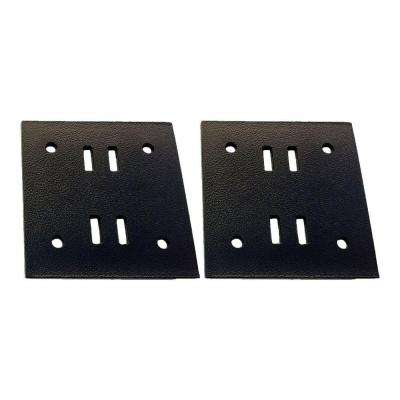 5 in. Black Galvanized Butt Joint Wood to Wood Connector Plate (2-Pack)