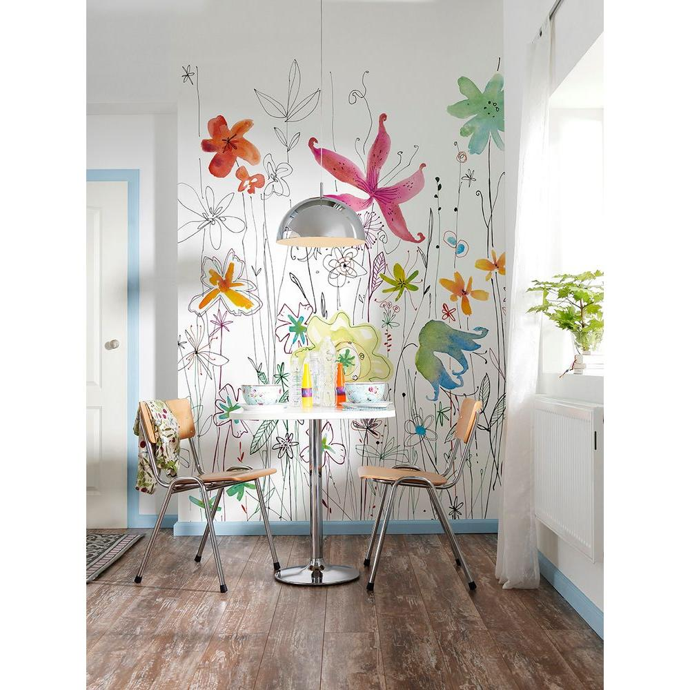 98 in. H x 72 in. W Joli Multicolor Wall Mural