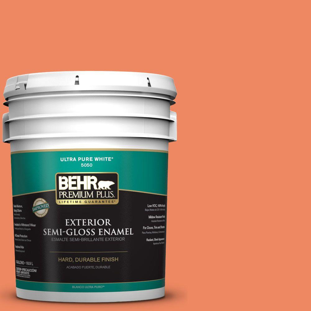 BEHR Premium Plus 5-gal. #P190-5 Orioles Semi-Gloss Enamel Exterior Paint
