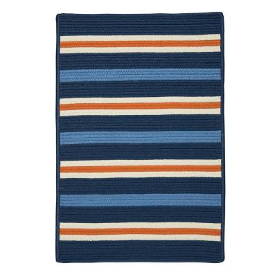 Painter Set Sail Blue 4 ft. x 6 ft. Striped Indoor/Outdoor Area Rug