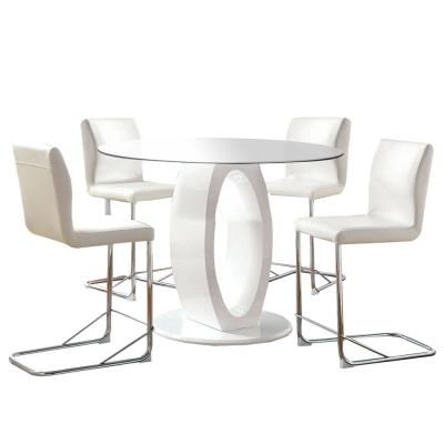 Lodia ii White Table Set (4-Piece)