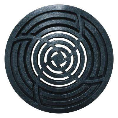 4 in. Round Black Grate