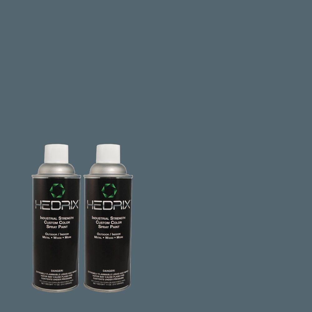 Hedrix 11 oz. Match of 2B44-6 Nordland Low Lustre Custom Spray Paint (2-Pack)