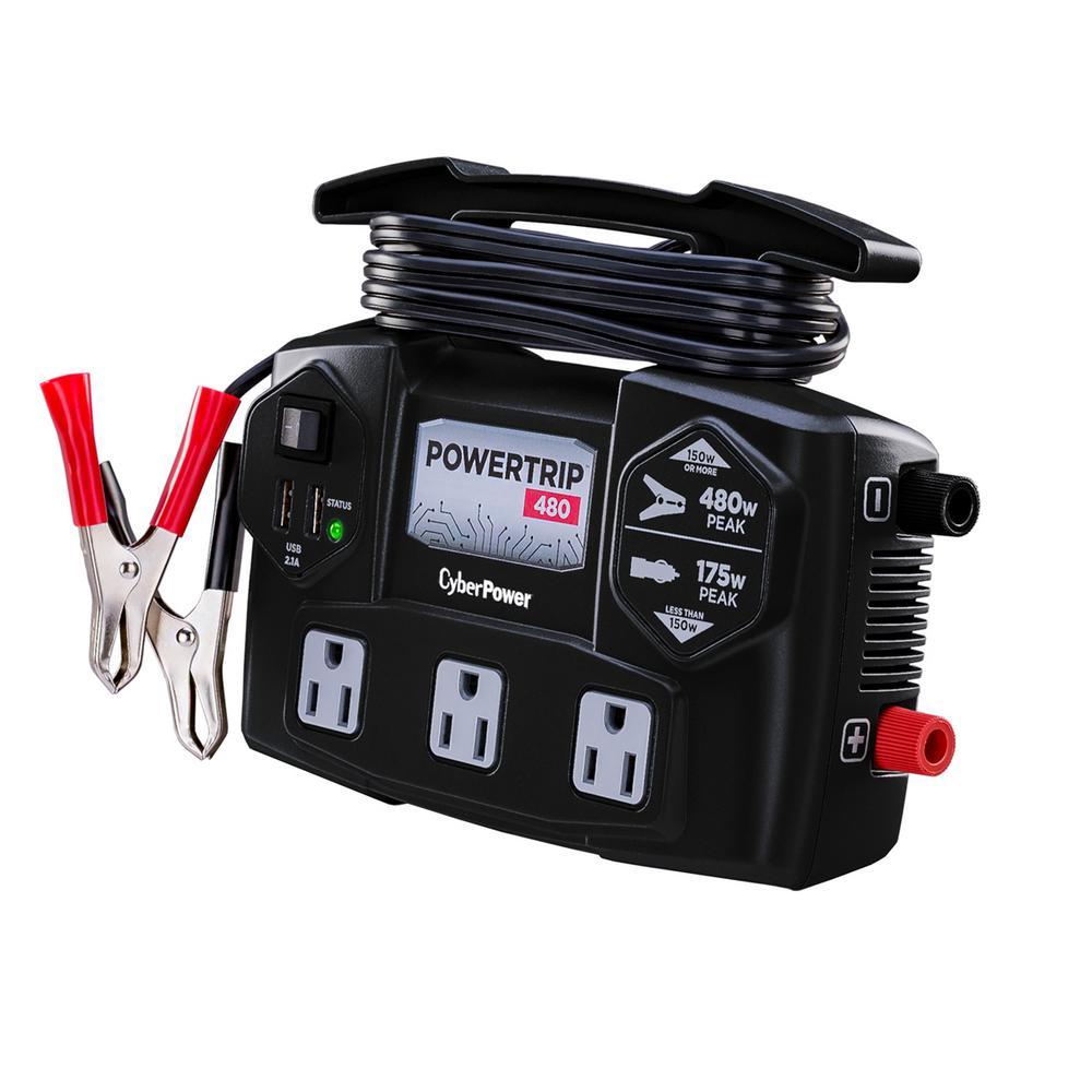 Power Trip 480-Watt Power Inverter in Black