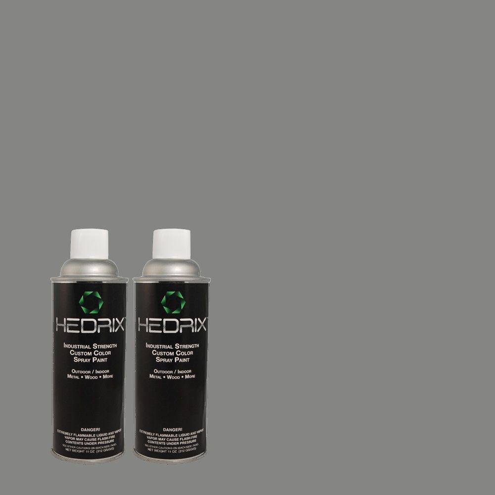 Hedrix 11 oz. Match of TH-55 Oxford Dusk Flat Custom Spray Paint (2-Pack)