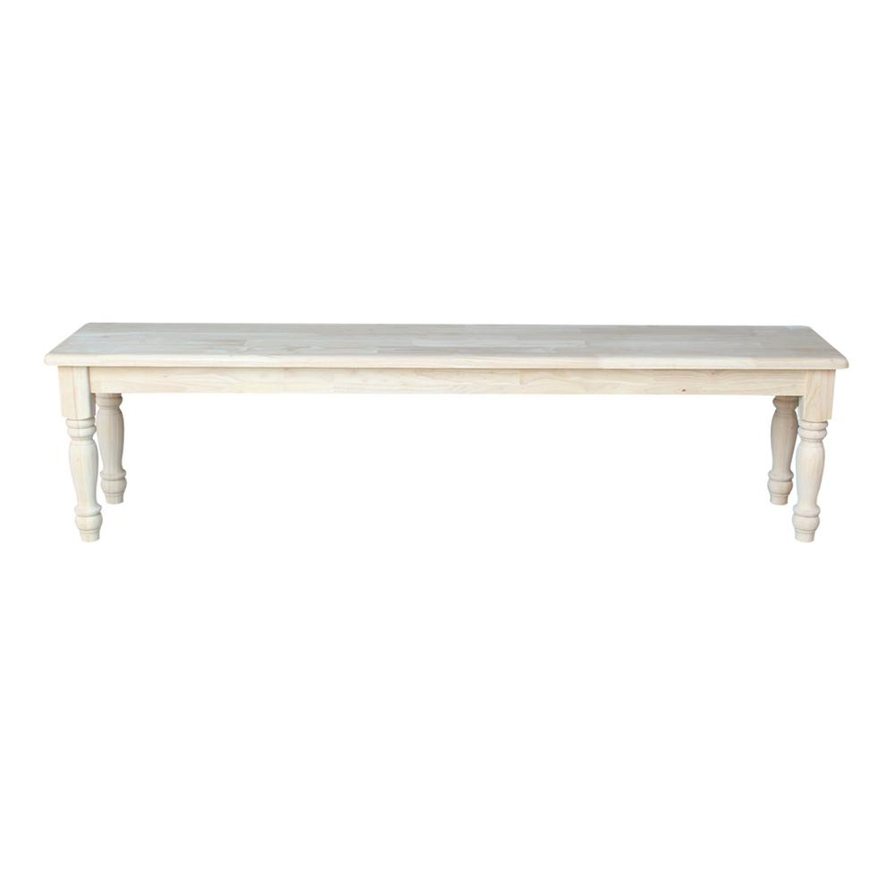 International Concepts Unfinished Bench Be 1: International Concepts Unfinished Bench-BE-72
