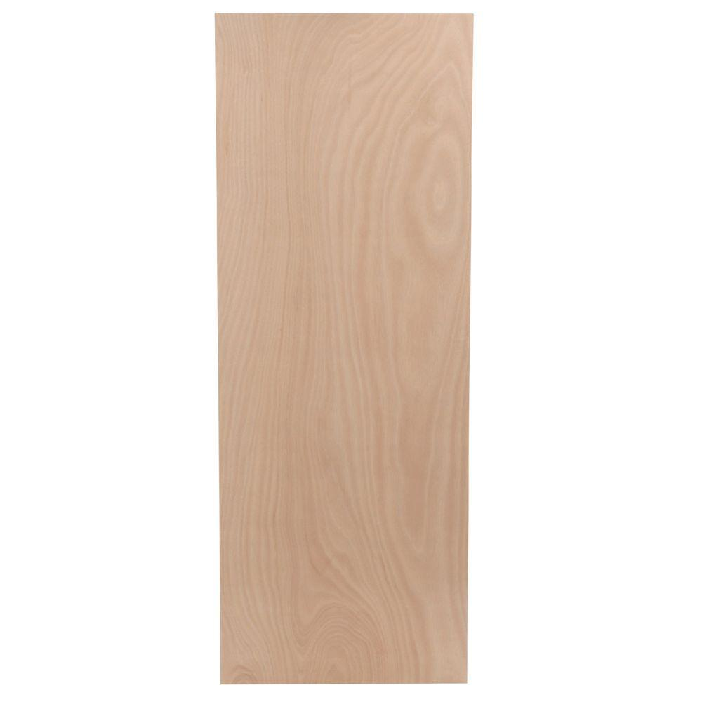 Unfinished flush hardwood interior door slab sc st the - Interior doors for sale home depot ...