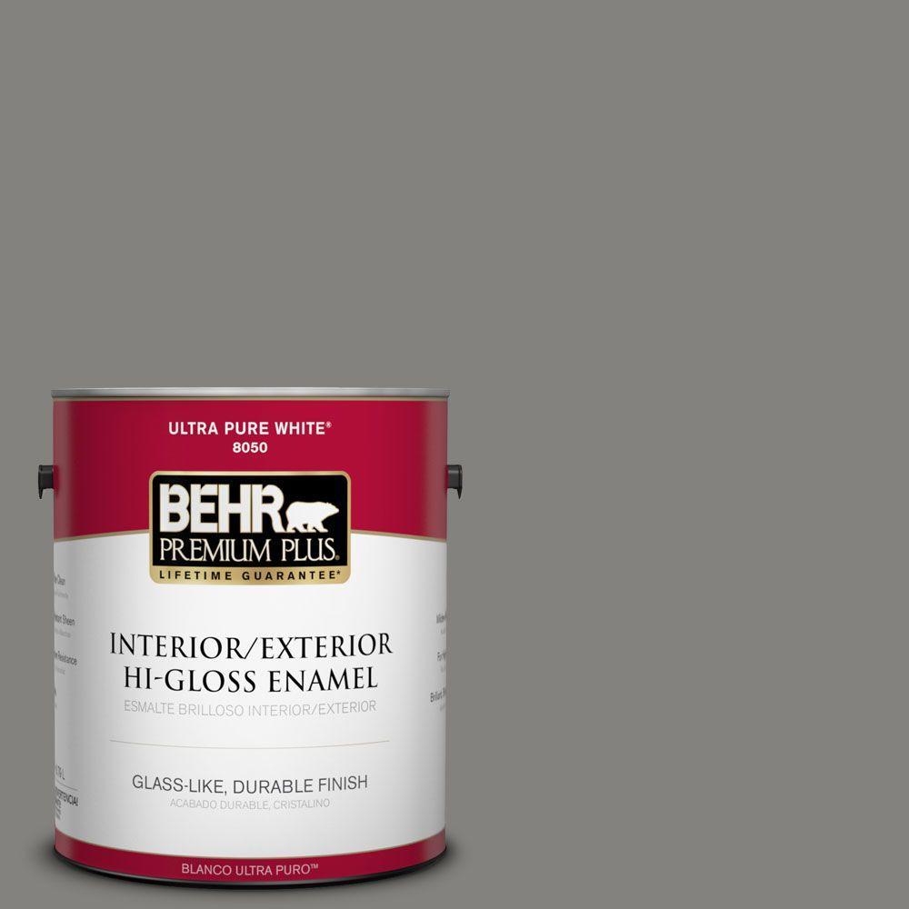 1-gal. #BNC-25 Gray Pepper Hi-Gloss Enamel Interior/Exterior Paint